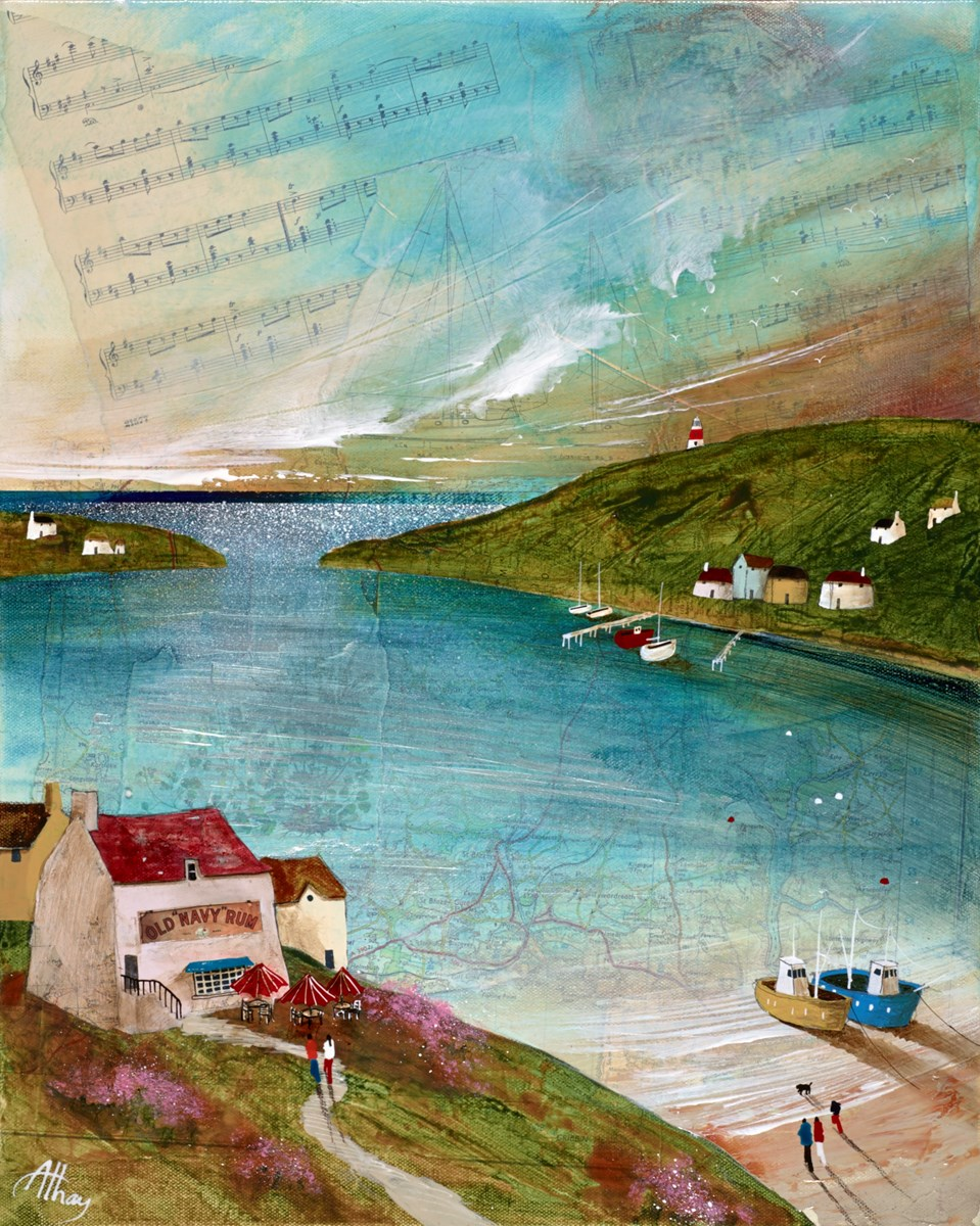 Harbour Music by keith athay -  sized 20x16 inches. Available from Whitewall Galleries